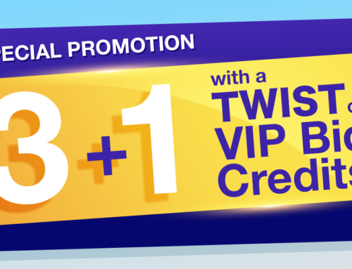 3 plus 1 Special Promotion with a Twist of VIP Bid Credits