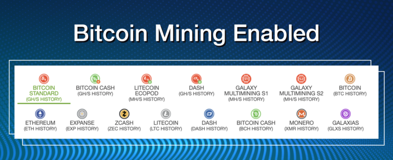 Bitcoin Mining Enabled