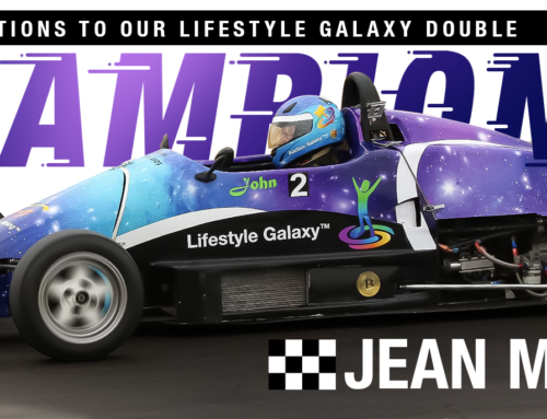 Congratulations to our Lifestyle Galaxy Double Formula Racing Champion, Jean Maurien!