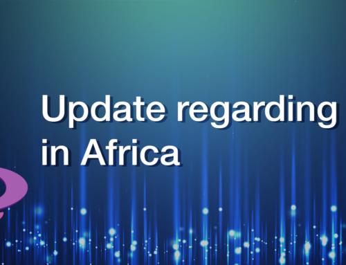 Update regarding sales in Africa
